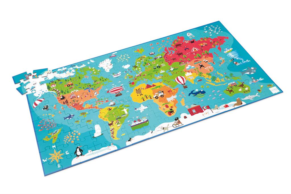 Puzzle World Map   Scratch Europe